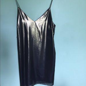 Aritzia Gold Mini Dress (NWT)